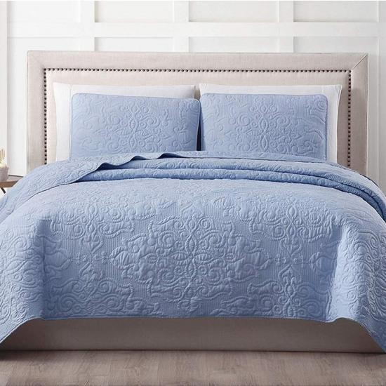 hj home fashion bumbac damask-set de broderie quilt