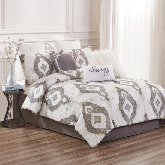 taupe damask 7pc confortabil